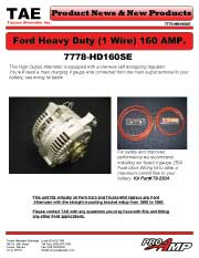 Ford Heavy Duty 1-wire 160 AMP.