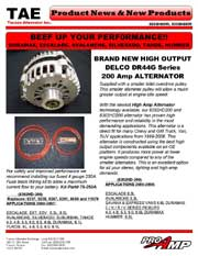 DELCO DR44G Series 200 AMP Alternator