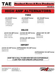 High AMP Alternators